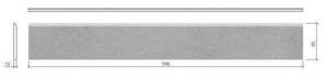 Mosa Terra Maestricht plint 216BP antraciet 60x10-0